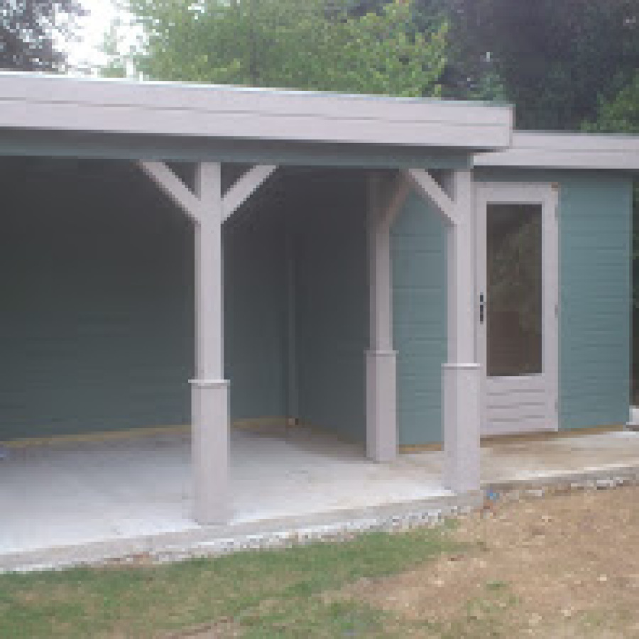 Garden office & pool house painted