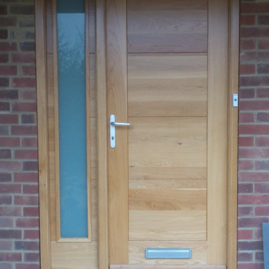 New front door installed and varnished