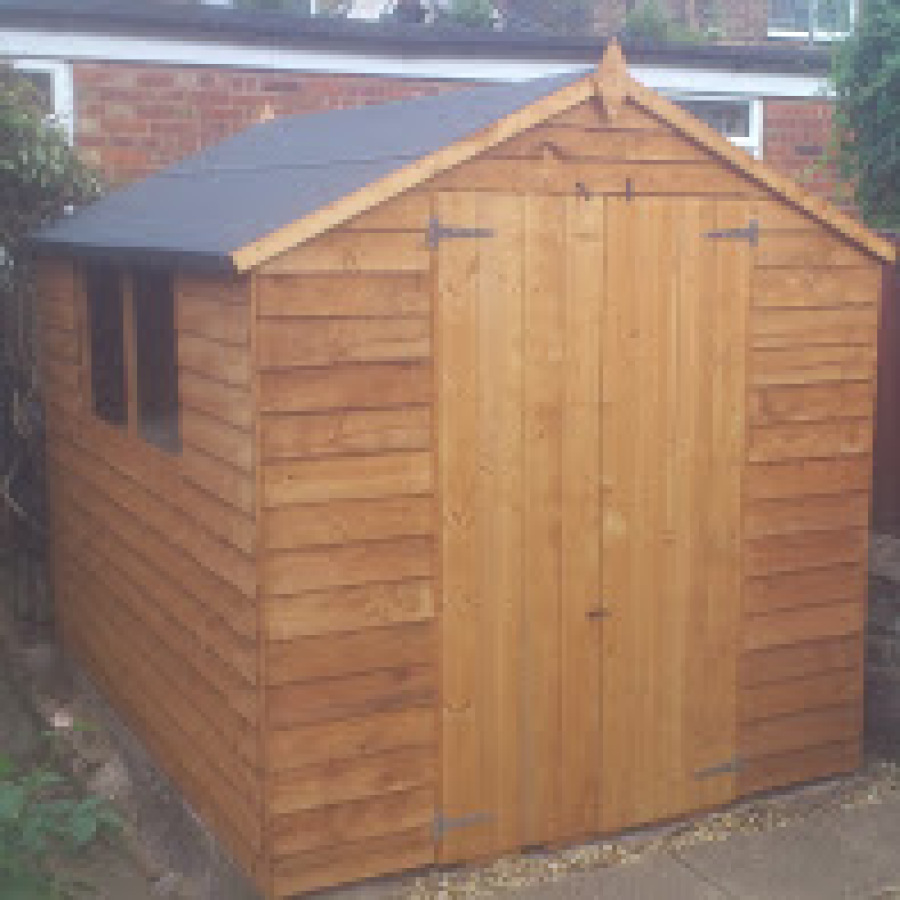 Garden shed erected and felted